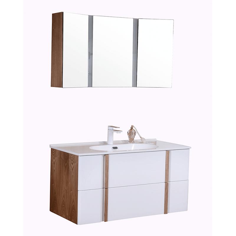 Комплект мебели Orans NL-006-1000, корпус - ясень, фасад - белый