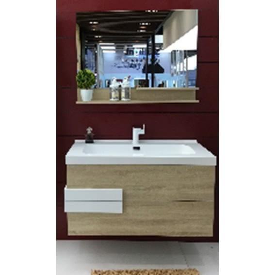 Комплект мебели Orans ВС-2023D-1000, дуб/белый глянец