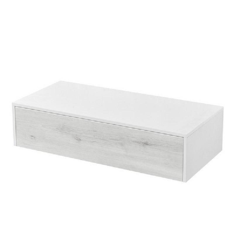 Комод Акватон Сакура 100, 1A234803SKW80, белый глянцевый/ольха наварра