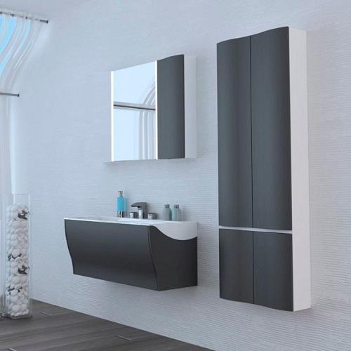 Комплект мебели АКВАТОН Ондина 80 см, графит