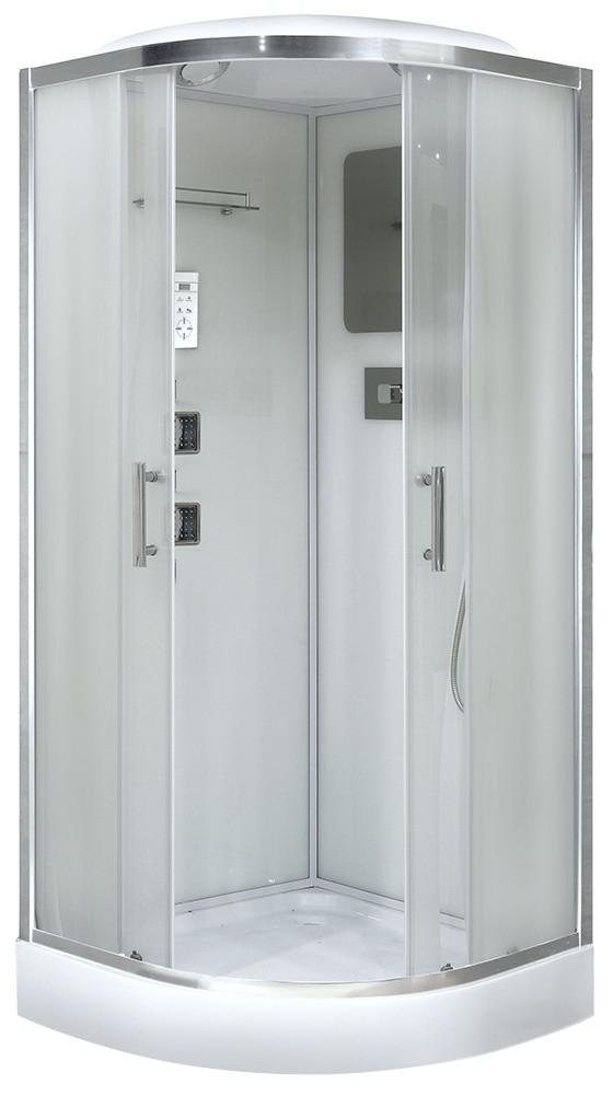 Душевая кабина Niagara NG-1702, четверть круга, задняя стенка - белая, 100 x 100 см