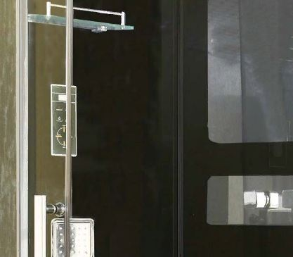 Душевая кабина Niagara NG-1708B, четверть круга, задняя стенка - черная, 90 x 90 см