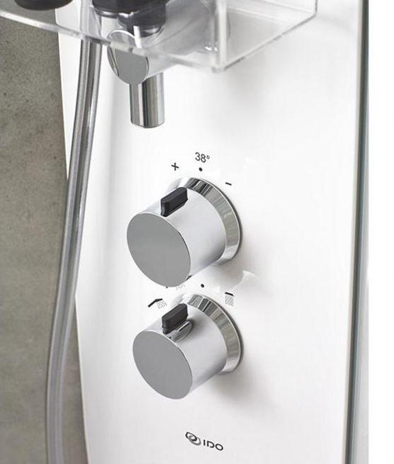 Душевая кабина IDO Showerama 10-5 Comfort 558.205.309, 80 x 90 см, стекло прозрачное, задние стенки прозрачные, профиль белый