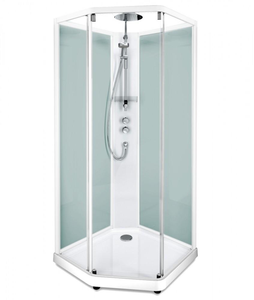 Душевая кабина IDO Showerama 10-5 Comfort 558.205.311, 80 x 90 см, стекло прозрачное, задние стенки матовые, профиль белый