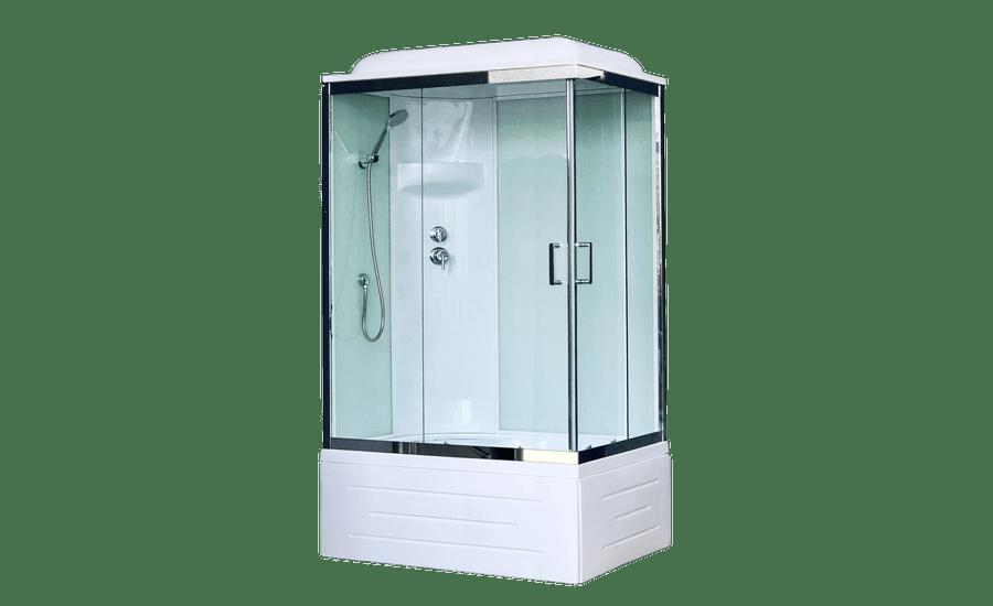 Душевая кабина RoyalBath BP RB8100BP6-WT-CH-L/R 100 x 80 см, дверь прозрачная, задние стенки белые