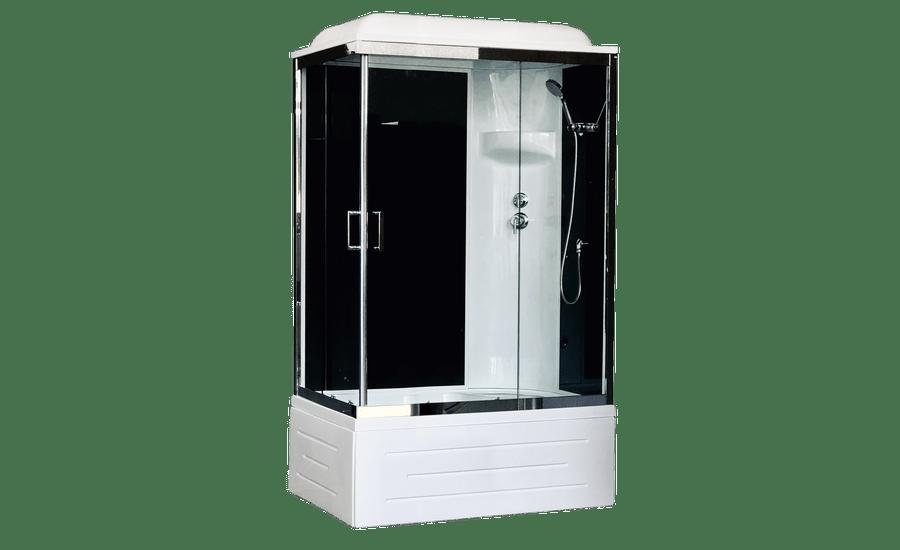 Душевая кабина RoyalBath BP RB 8100BP6-BT L/R 100 x 80 см, дверь прозрачная, задние стенки черные