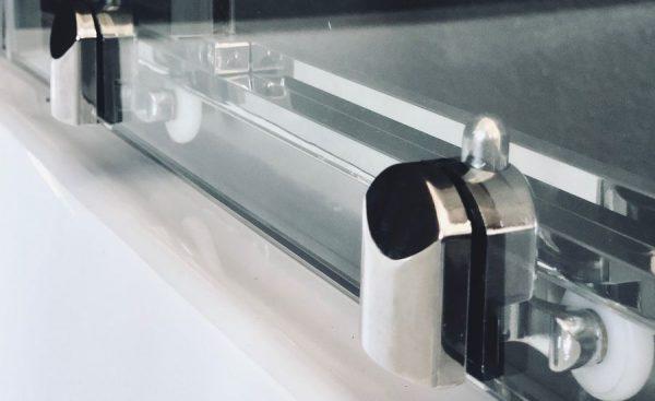 Душевая кабина Royal Bath RB100HK6-BT-CH 100 x 100 см, двери прозрачные, задние стенки черные