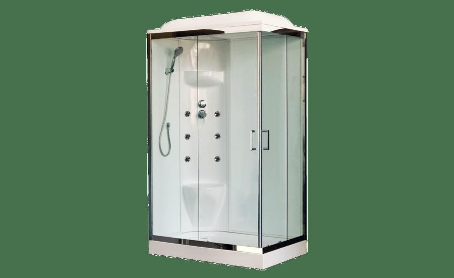 Душевая кабина Royal Bath RB8120HP7-WT-CH-L/R, 120 х 80 см, стекло прозрачное