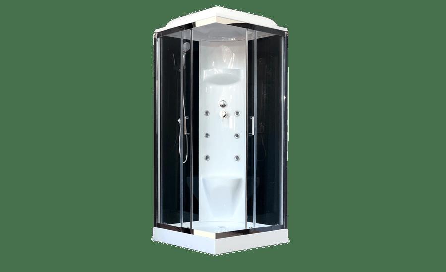 Душевая кабина Royal Bath RB80HP7-BT-CH, 80 х 80 см, стекло прозрачное