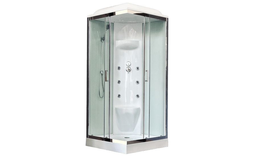Душевая кабина Royal Bath RB80HP7-WT-CH, 80 х 80 см, стекло прозрачное