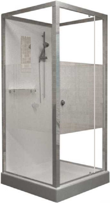 Душевая кабина RGW OLB-207, 80 x 80 см, профиль - хром
