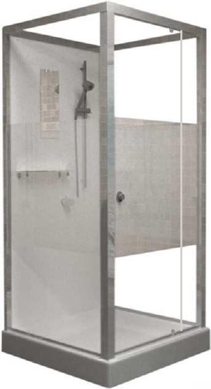 Душевая кабина RGW OLB-207, 100 x 80 см, профиль - хром