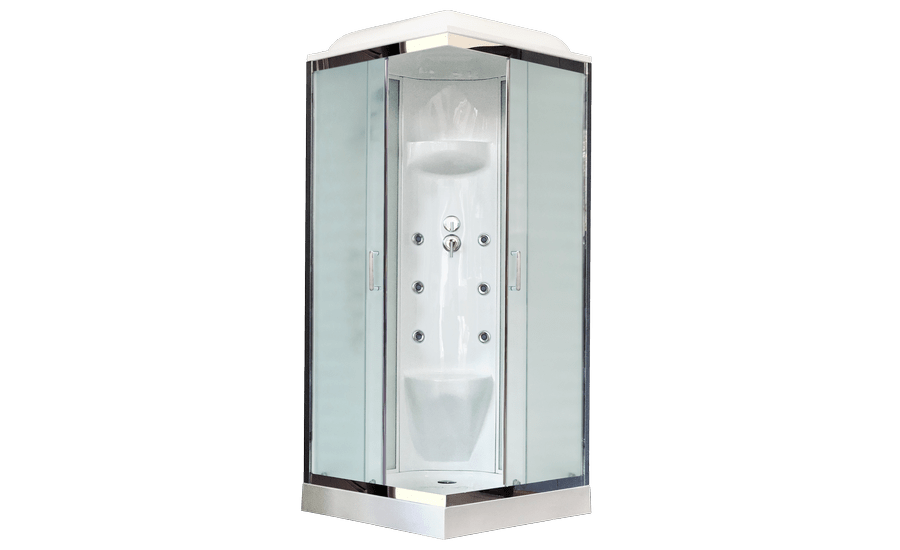 Душевая кабина Royal Bath RB80HP7-WC-CH 80 x 80 см, двери матовые, задние стенки белые