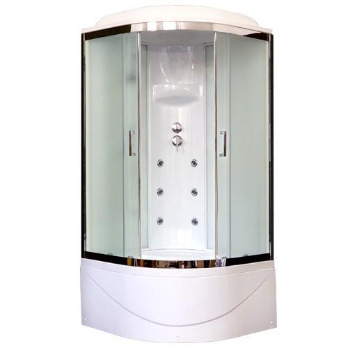 Душевая кабина Royal Bath RB100BK3-WC-CH 100 x 100 см, двери матовые, задние стенки белые, хром