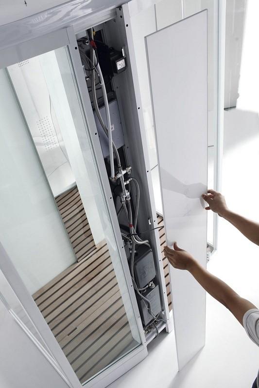 Душевая кабина Orans SR-89105S L/R 120 x 90 см с функцией турецкая баня, белая