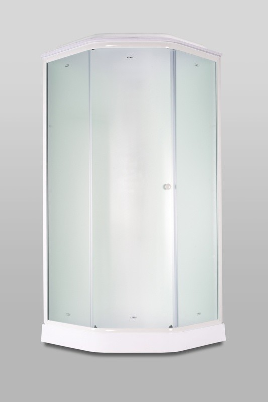 Душевая кабина Parly P91F, стекло матовое, профиль белый, 90 x 90 х 215 см