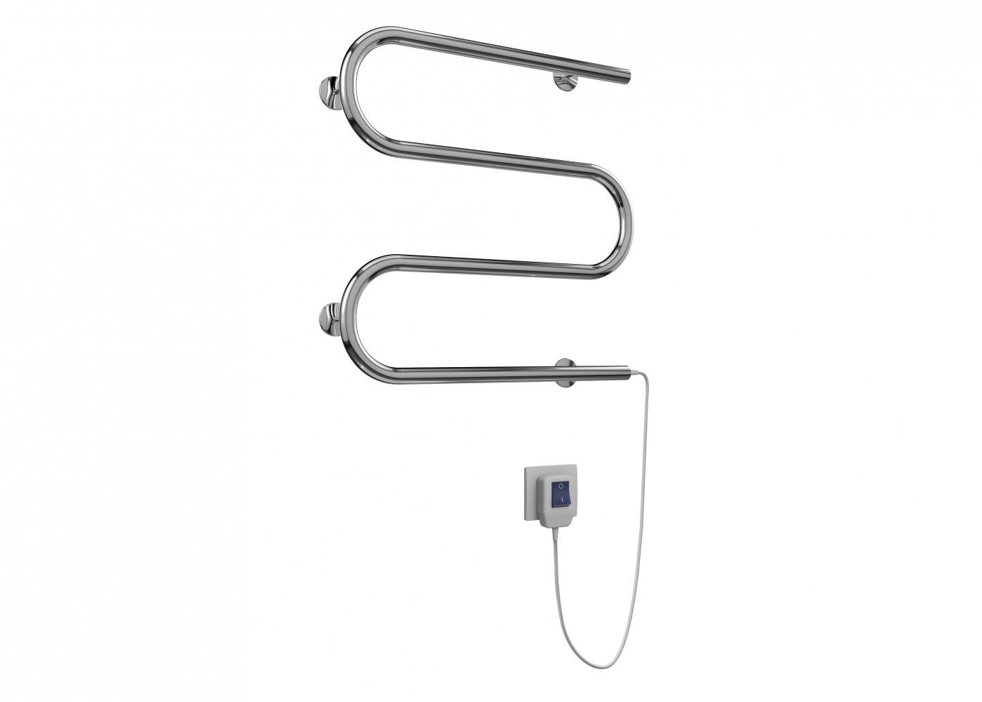 Полотенцесушитель электрический Terminus M-образный, ширина 50 см, высота 52.5 см