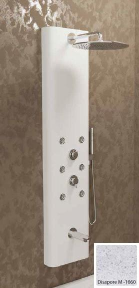 Душевая панель с гидромассажем Kolpa-San Kerrock City 4F, цвет - Disapore M-1060 (светло-серый), с изливом для ванны