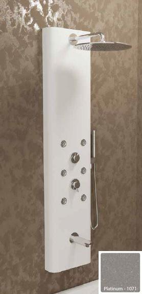Душевая панель с гидромассажем Kolpa-San Kerrock City 4F, цвет - Platinum-1071 (темно-серый), с изливом для ванны