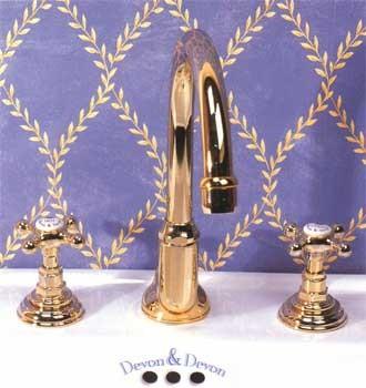 Смеситель Devon&Devon Austin UTAU900APOT для раковины, светлое золото