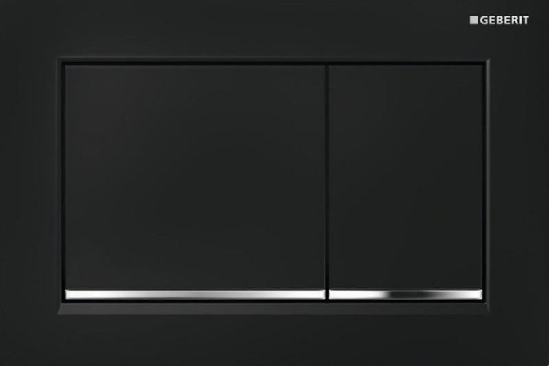 Клавиша Geberit Omega Type 30 115.080.KM.1, черная, глянцевый хром