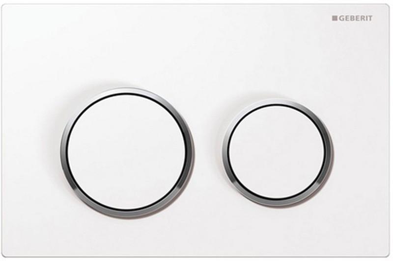 Кнопка Geberit Omega Type 20 115.085.KJ.1, белая, глянцевый хром