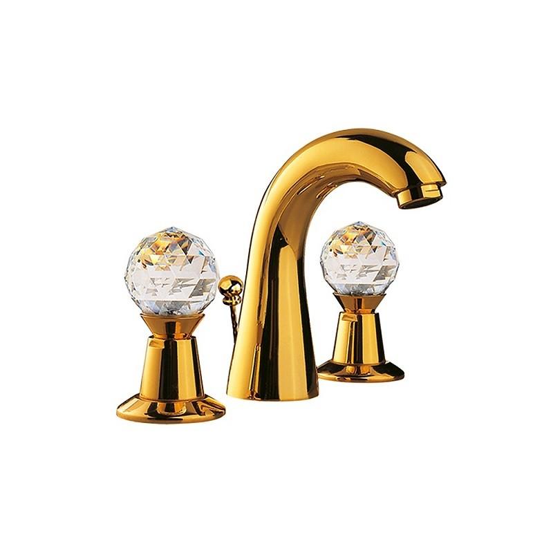 Смеситель Jaquar Rendezvous CTL-GLD-8191 для раковины, с донным клапаном, золото