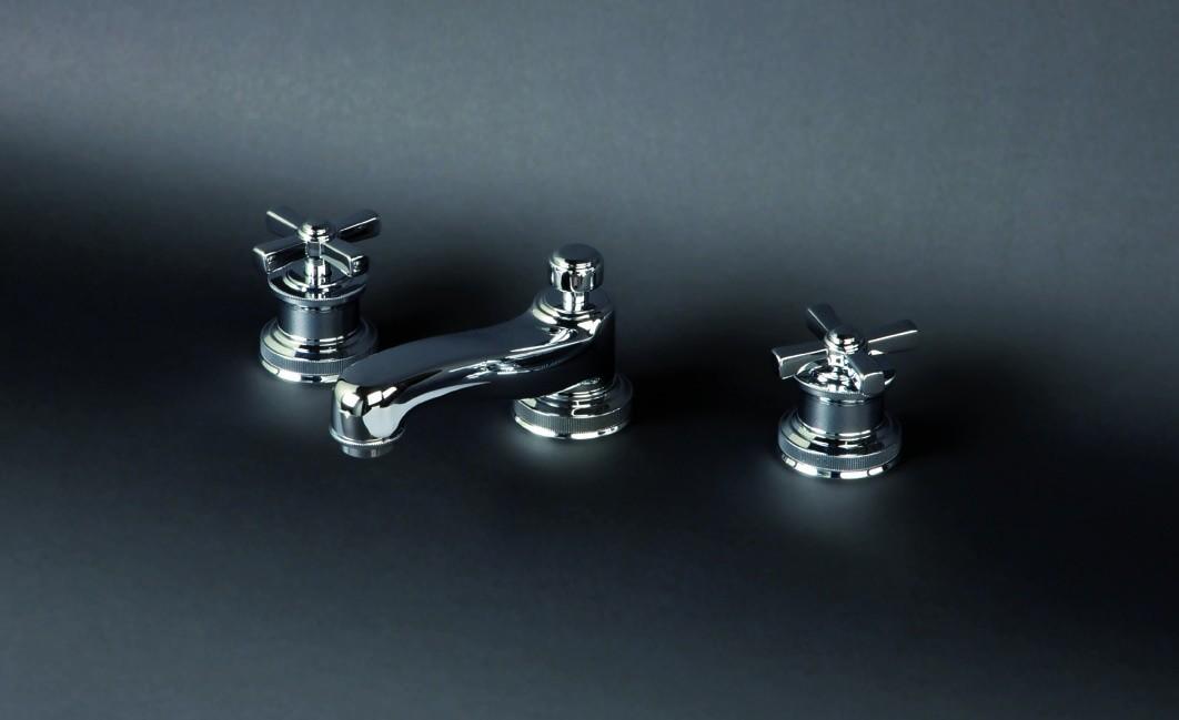 Смеситель для раковины Cristal-et-Bronze City, 25641-94, на 3 отверстия, с донным клапаном