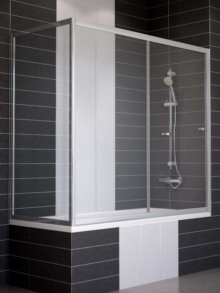 Ограждение на ванну раздвижное с неподвижной боковой стороной Vegas Glass ZV+ZVF 150*70