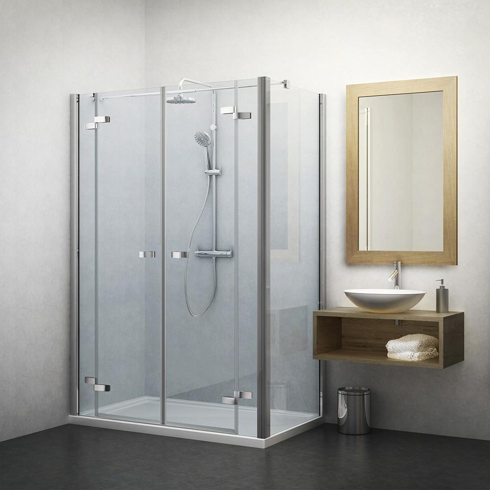 Душевой уголок Roth Elegant Line 130 х 100 см двустворчатый с неподвижной стенкой, стекло прозрачное