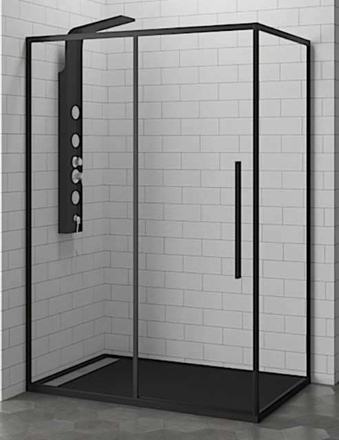 Душевой уголок RGW SV-42-B 32324272-14 120 х 70 см прямоугольный, черный