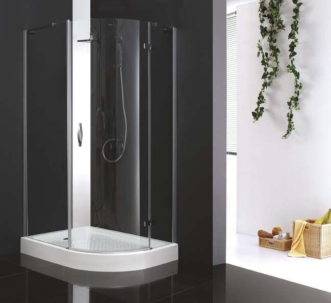 Душевой уголок Cezares BERGAMO-RH-1-120/100, 120 х 100 х 200 см, стекло прозрачное/текстурное